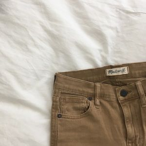 madewell garment dyed skinny jeans